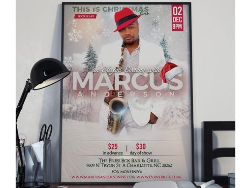 Marcus Anderson Promotional Print Design